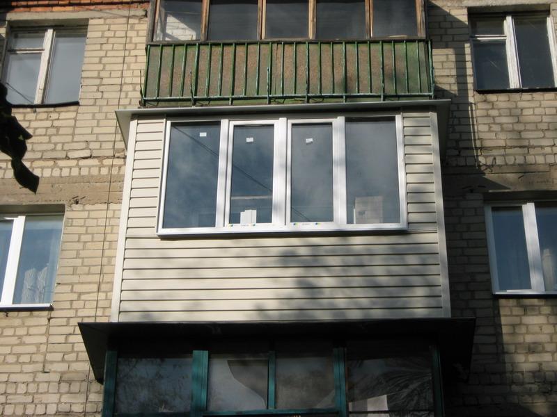 Обшить балкон хрущевки снаружи в кирове.